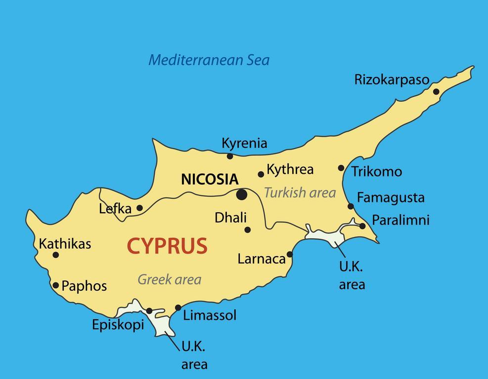 Pafos Cypern Kort